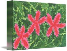Digital Wildflowers: Pink by Sherrie Larch