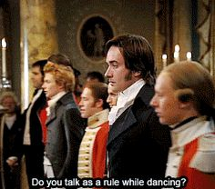 """""""The most difficult was the scene with Darcy where it's talking and dancing at the same time, and you know, you do it once, and it's difficult enough to remember the steps, and then they do it and they take the music away, """"      (Keira Knightley)"""