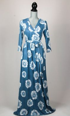 Flower Power Maxi Dress Salt And Light, Pretty Dresses, Baby Blue, Flower Power, Teal, Long Sleeve, Sleeves, Fashion, Moda