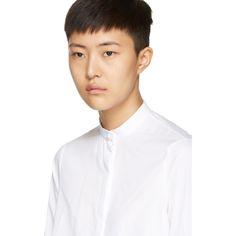Alexander McQueen - White Asymmetric Poplin Shirt