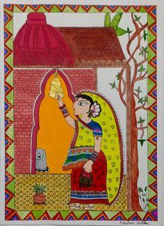 Primitive Folk Art, Folk Art, Art Store, Naive Art, Painting, Indian Folk Art, Art, Madhubani Painting, Etsy Painting