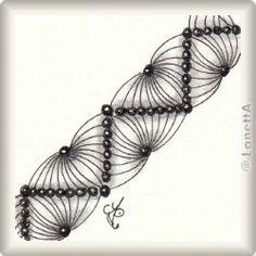 Zentangle-Pattern 'Drogon' by Lily Moon, presented by www.musterquelle.de