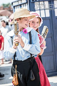 "Photo of ""Tom Sawyer"" and ""Becky Thatcher"" in a Nerf Duel from the 2014 First…"