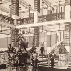 Otto Wagner, project drawing, 1902
