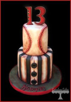 Vintage Baseball themed cake with Arizona Diamonds details. www.facebook.com/i.love.cuteology.cakes
