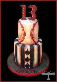 Vintage Baseball themed cake with Arizona Diamonds details.  www.facebook.com/i.love.cuteology.cakes