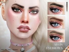 Aegis Eyebrows N106 by Praline Sims for The Sims 4