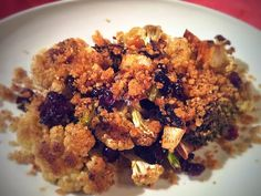 Napa Farmhouse 1885™: Roasted Cauliflower and Broccoli with Cranberries & Garlic Bread Crumbs #fall fest
