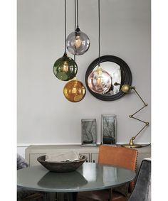 40 glass ball lamps for every interior design - Lampen - Glasses House Design Photos, Cool House Designs, Modern House Design, Lampe Rose, Smoke Design, Sweet Home, Suspension Design, Apartment Design, Home Interior Design