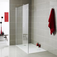 Best Value Wet Room Glass Screen Panel Walk-In Shower Enclosure Tray - wall/glass