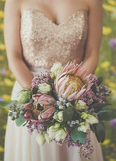 20 Gorgeous Protea Bouquets | SouthBound Bride | http://www.southboundbride.com/20-gorgeous-protea-bouquets | Credit: Bird On The Wall Photography/Botanica Naturalis via Burnett's Boards