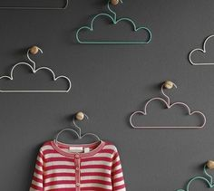 Use these Cloud coat hangers to display your favorite outfit, jewelry, garland or just as a piece of art.