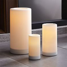 Outdoor Pillar Candles with Timer $9.95-$29.95