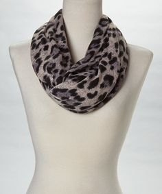 Take a look at this Gray Au Naturel Leopard Infinity Scarf by Veond on #zulily today!