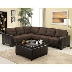 Furniture of America Lavena Sectional Las Vegas Furniture Online | LasVegasFurnitureOnline | Lasvegasfurnitureonline.com