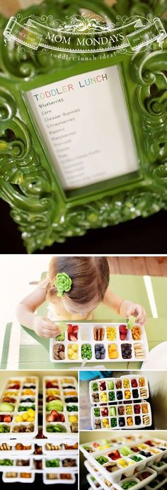 Awesome snack or lunch idea for toddler. Keeps them busy.