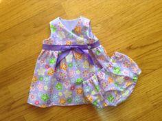 Premature/Preemie+Baby+Dress+Jumper+Wrap+Dress+by+ShesSoPrecious