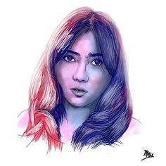 Isyana Sarasvati  Indonesian Artist Digital Sketching