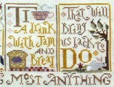 Silver Creek Samplers Sing a Sampler Part 4 - Cross Stitch Pattern. Part 4 of the 4 part Sing a Sampler series. Entire series stitched on 32 Ct. Light Sand line