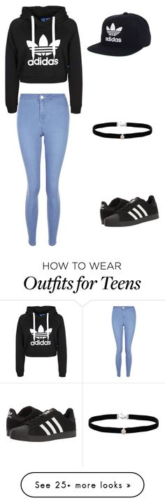 """Adidas"" by lexieprozan on Polyvore featuring New Look, adidas and Amanda Rose Collection"