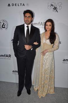Actor Abhishek Bachchan along with his wife Aishwarya Rai Bachchan at the inauguration of amfAR India event at Hotel Taj Mahal Palace in Mumbai on Sunday, November 17th, 2013.