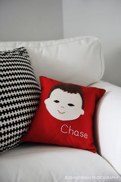Olliegraphic Pillow - #projectnursery
