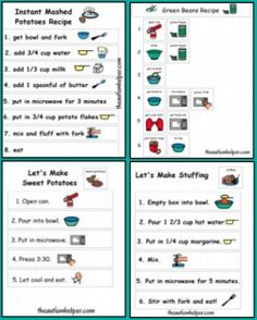 Pediatric Therapy Corner: Visual Thanksgiving Recipes- pinned by @PediaStaff – Please Visit ht.ly/63sNtfor all our pediatric therapy pins