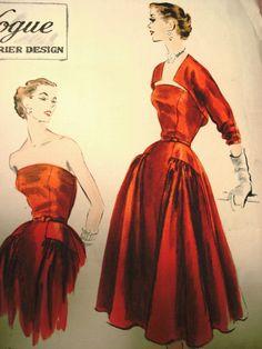 Perfect Vintage Christmas Dress via vintagepatters: Vogue648.jpg