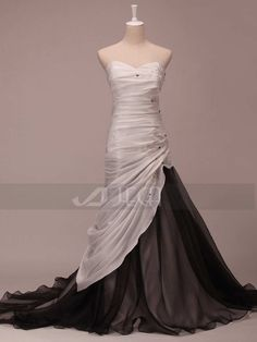 Hey, I found this really awesome Etsy listing at https://www.etsy.com/listing/170732254/black-and-white-wedding-dress-colored