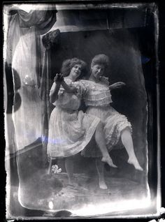 nice double exposure vintage photograph