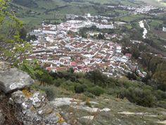 Jimena de la Frontera provinvia de Cadiz vista desde la subida al castillo