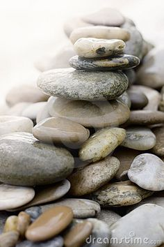 Stones and pebbles piled up by Robnroll, via Dreamstime