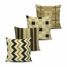 Conjunto 4 Almofadas Geometricas - Marron