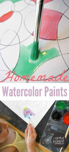 How to Make Homemade Watercolor Paints with Kids - A Step by Step Tutorial