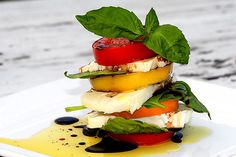 Cairn Salad - My favorite ingredients stacked together - yum!