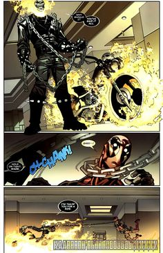Ghost Rider (Johnny Blaze): Chain Strangle Ghost Rider Johnny Blaze, Ghost Rider Marvel, Ghost Raider, Geek Art, Cute Funny Animals, Kamen Rider, Marvel Dc, Deadpool, Cool Pictures