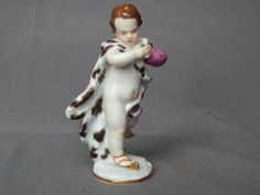 Antique-Meissen-Ice-Skater-Skating-Cherub-German-Porcelain-Dresden-Figurine