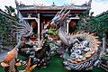 Dragon fountain at the back of the Cantonese Assembly Hall (Quang Trieu). Hoi An Ancient Town pagoda