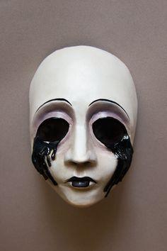Pierrot by Edward-Jekyll Creepy Masks, Creepy Art, Dark Fantasy, Fantasy Art, Kitsune Mask, Masks Art, Halloween Masks, Mask Design, Art Inspo
