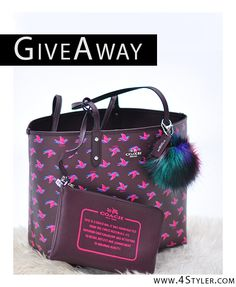 COACH bag + Makeup goddies on GiveAway! We are spotting GiveAways from fashion bloggers, every week. Follow the board to get fashion goodies for free! #giveaway #give #away #fashion #style #promo #promotion #fashion #blog #blogger #free #COACH #birds #hand #bag #makeup #loreal