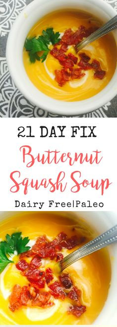 Creamy and delicious - 21 Day Fix Butternut Squash Soup