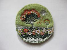 Embroidery Art Brooch,Pin