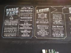 Chalk menu rundle street adelaide