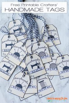 Sewing art printable gift tags 61 ideas for 2019 Sewing Art, Sewing Crafts, Sewing Patterns, Sewing Tips, Sewing Hacks, Handmade Gift Tags, Handmade Shop, Gift Tags Printable, Sewing Projects For Beginners