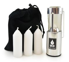 UCO Original Candle Lantern Value Pack with 3 Candles and Storage Bag Aluminum * You can find more details by visiting the image link. (This is an affiliate link) Camping Lanterns, Camping Lights, Emergency Candles, Coleman Camping Stove, Candle Store, Beeswax Candles, Candle Wax, Camping Accessories, Candle Lanterns