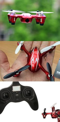 Palm-sized Quadcopter Drone (including a 720p Video Camera)...Perfect as a gift for the gadget fans in your life. Latest 6-axis flight control system with adjustable gyro sensitivity permits super stable flight. USB charging cable allows charging by computer. The video camera records to a Micro SDHC card. Includes Remote Controller. Click thru for details, and track the price for best pricing.