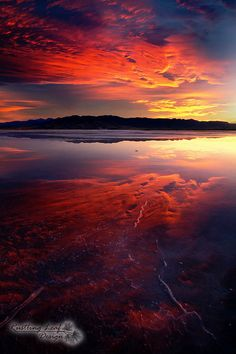 ~Sunset Over the Great Salt Lake, Utah ~ by Scott Stringham....