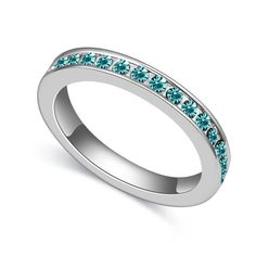 Alliances of Marriage Women Rings Men Jewelry Austrian Crystal Simple Design Female Rings 5 Colors