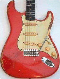 Vintage 1961 Fender Stratocaster Original Fiesta Red Guitar
