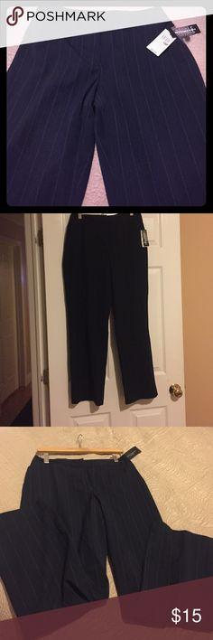 Rafaela petite slacks size 10 Brand new never worn size 10 petite new with tags blue with stripes rafaela  Pants Straight Leg